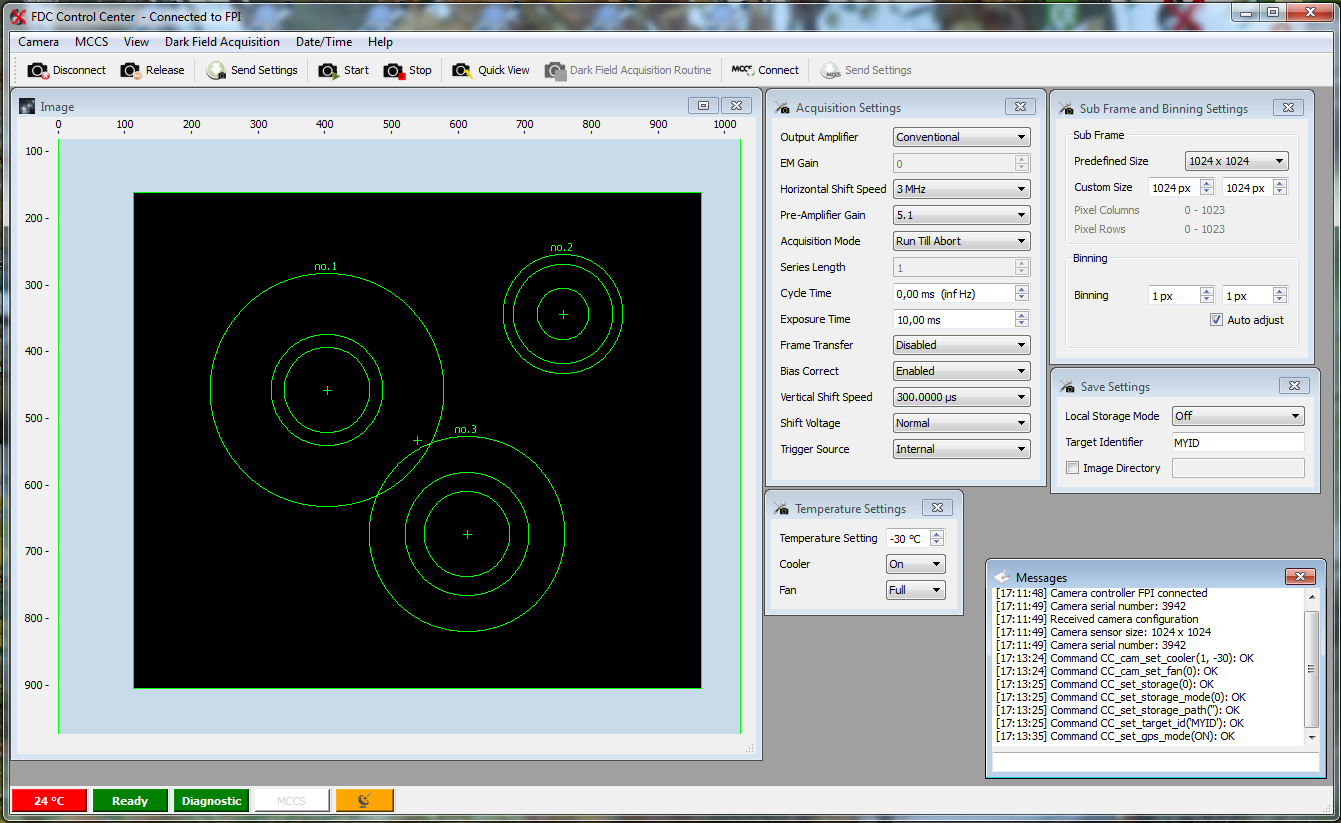 Image Focal Plane Imager GUI